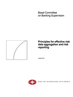 Principles for effective risk data aggregation and risk reporting
