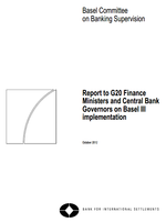 Report to G20 Finance Ministers and Central Bank Governors on Basel III implementation
