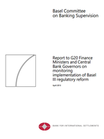 Report to G20 Finance Ministers and Central Bank Governors on monitoring implementation of Basel III regulatory reform
