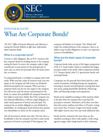 What Are Corporate Bonds ?