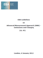 EBA Guidelines on Advanced Measurement Approach - Extensions and Changes